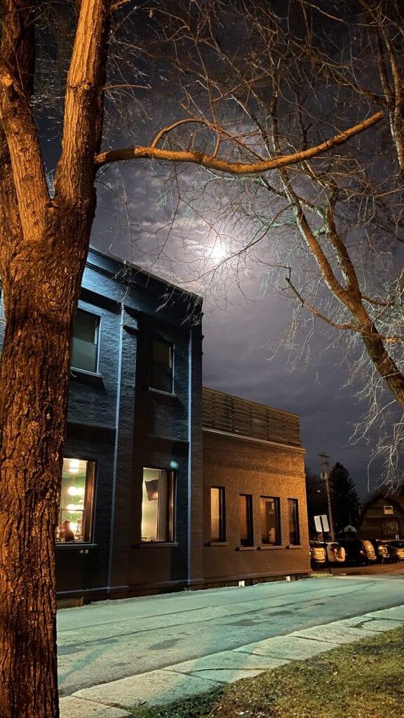 Full moon evening in Ellicottville